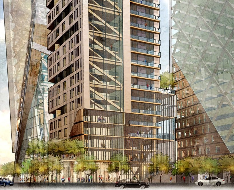 Hickok Cole architects demonstrates the viability of mass timber high-rise in the US