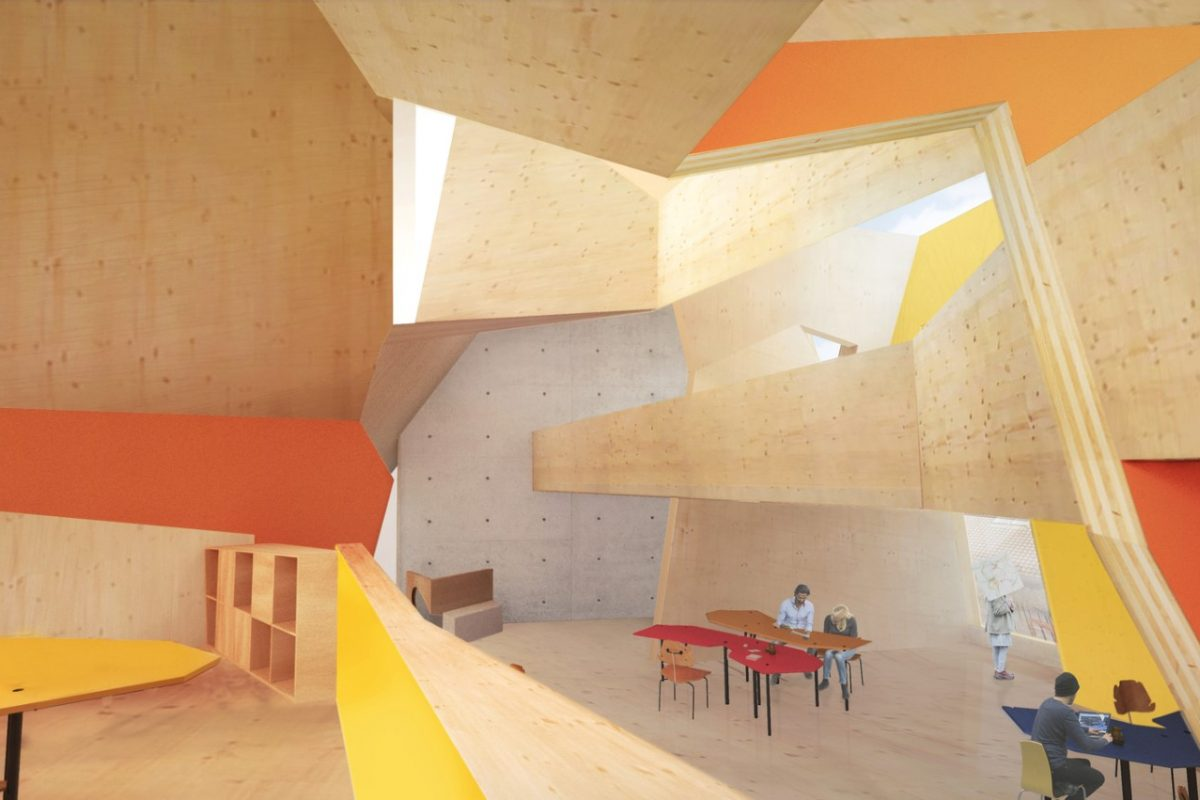 Peter Cook's CRAB Studio Reveals Sunny CLT Innovation Center for the Arts University Bournemouth