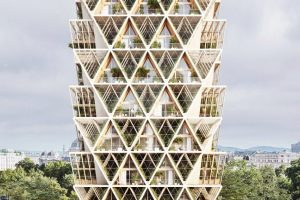Precht's The Farmhouse concept combines modular homes with vertical farms