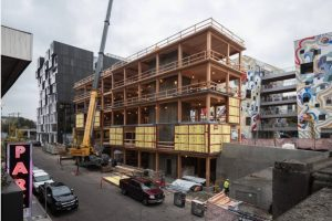 Cross-Laminated Timber used in Portland's B76 building