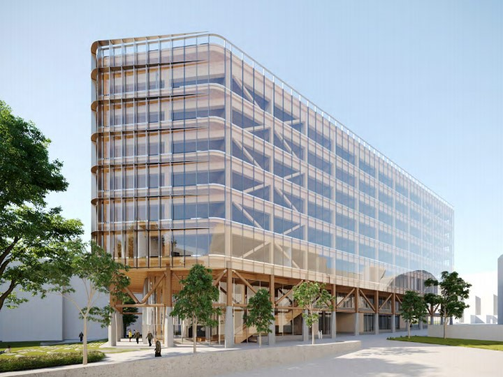 Tzannes and Lendlease reveals new engineered timber building for UNSW
