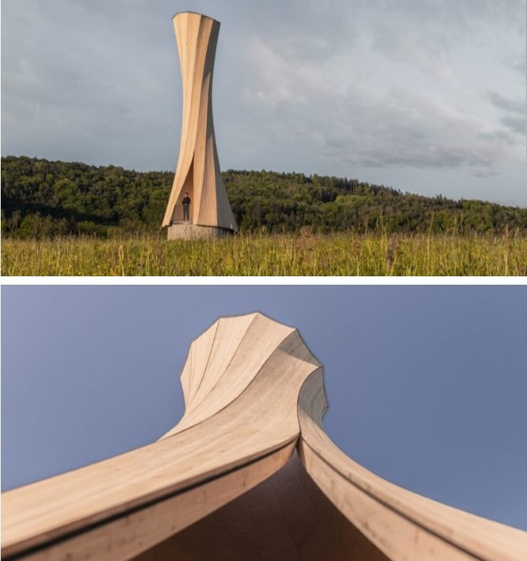 """Self-shaping"" Urbach Tower twists itself into a unique, curvaceous shape"