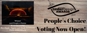 People's Choice Voting Now Opened - 20th Australian Timber Design Awards