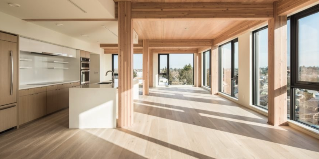 Peek inside the tallest cross-laminated timber building in the US