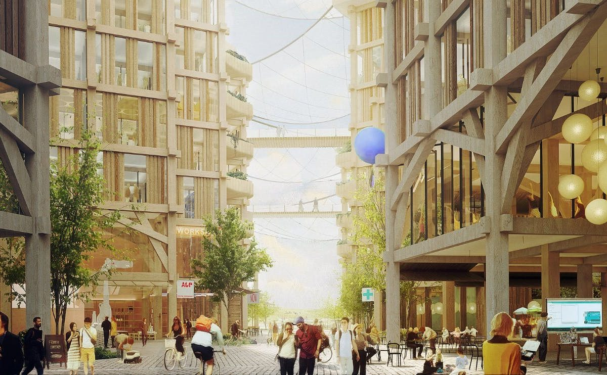 Mass timber and high-tech meet in Sidewalk Labs' vision for Toronto