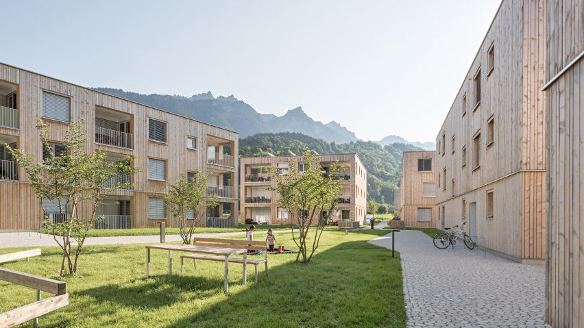 Feld72 builds housing estate from timber in Alpine town