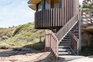 A stunning prefab timber surf lifesaving tower
