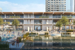 Powerhouse Plans Floating, All-Timber Office Building for Rotterdam Port