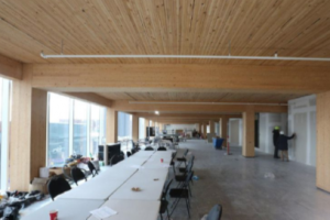 'The smell is very appealing.' Five-storey timber-based building in Liberty Village has been completed