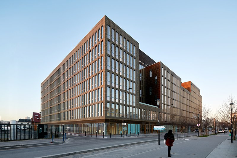 Natural Wood and Warm Lighting Fill BFV Architects' Office Building in Paris