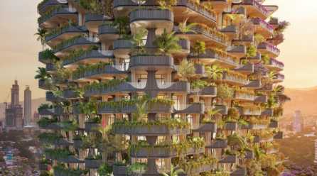 Vincent Callebaut Architectures Designs Rainbow Tree Residential Tower In The Philippines
