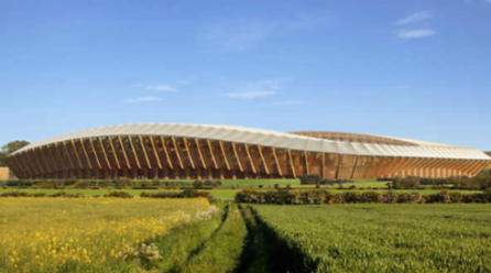 World's First All-Timber Football Stadium Wins Approval