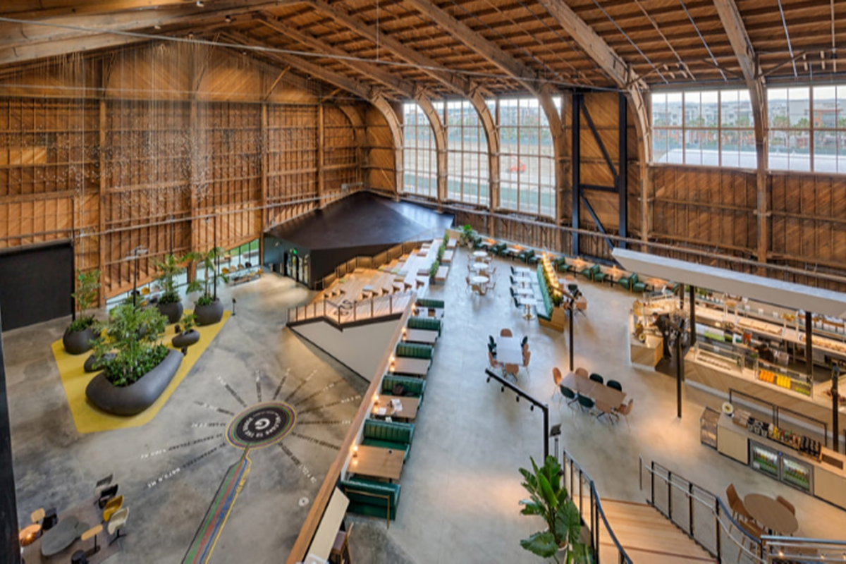ZGF converts historic LA airplane hangar into Google Spruce Goose office