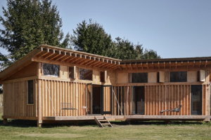 Crafted Works Exposes Timber Structure Throughout Cabin in the Netherlands