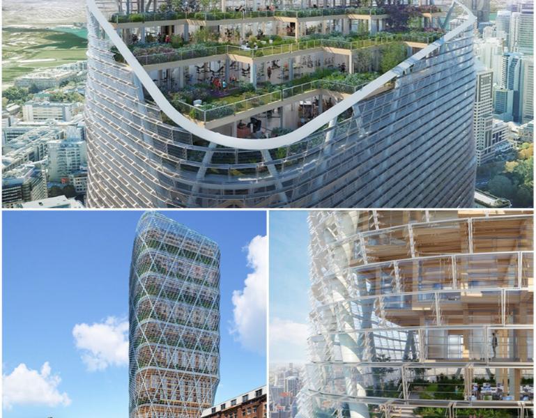 Atlassian Unveils Timber Skyscraper HQ