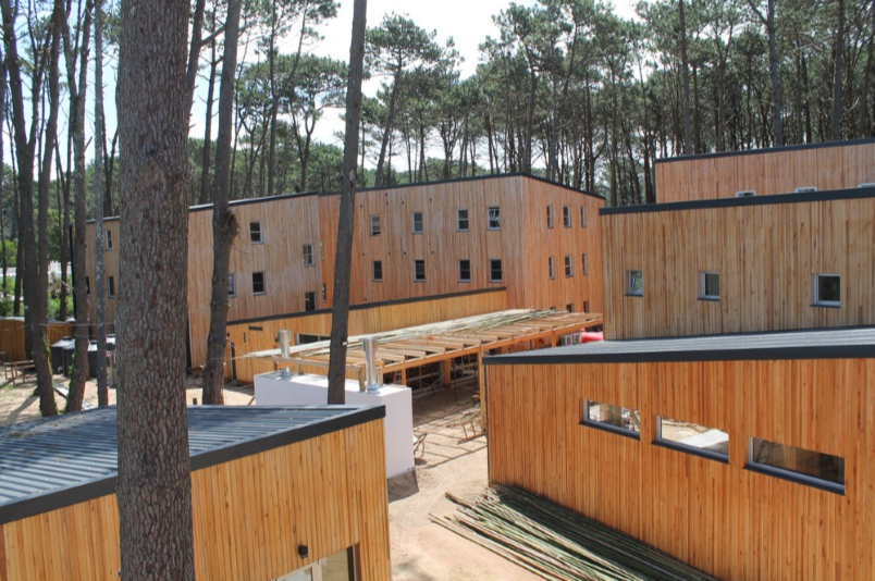 First three story building wood CLT of South America was built in Uruguay