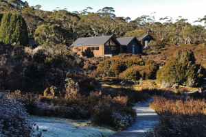 Tasmanian Overland Track's new hut, in Waterfall Valley, a Marvel of Modern Construction