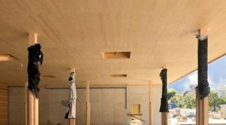 World record: 650 m2 large CLT panel