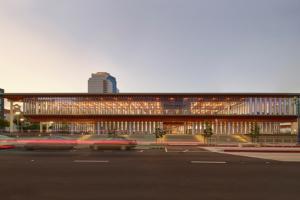 Billie Jean King Main Library by Skidmore, Owings & Merrill