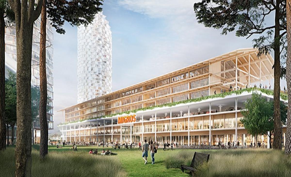 Herzog & De Meuron to Top Basel Shopping Center with School And Sports Facilities