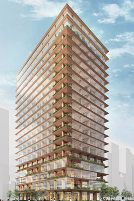 Japan's Tallest Wooden High-rise to be Built in Nihonbash
