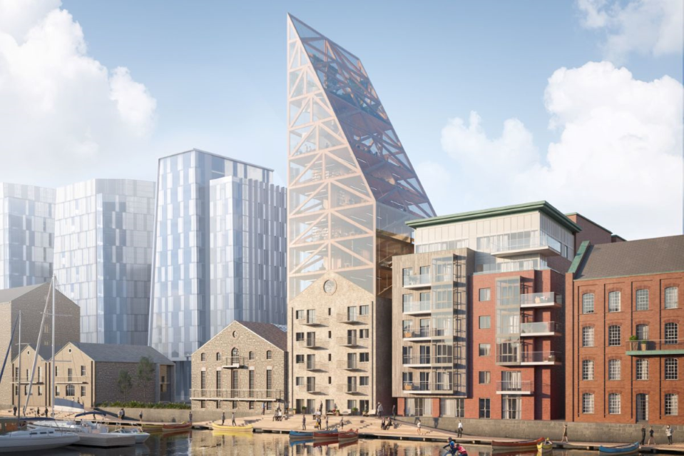 Sustainable Timber Tower to Crown 19th Century Dublin Mill