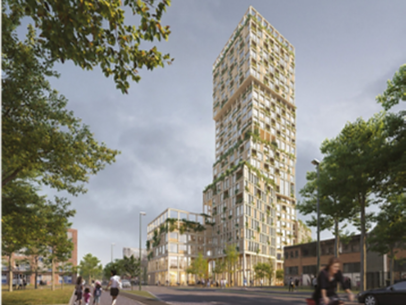 Mad Arkitekter to Build Woho, a Residential Wooden Skyscraper In Berlin