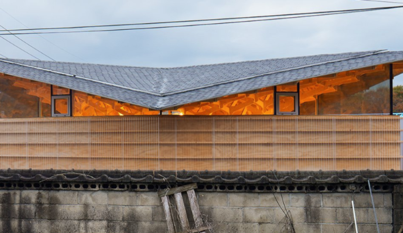 An Intricate Wooden Canopy Tops JK-AR's House of Three Trees In South Korea